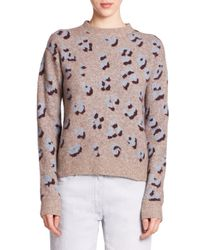 3.1 Phillip Lim | Brown Animal-print Sweater | Lyst