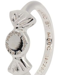 Marc By Marc Jacobs - Metallic Lost And Found Silver Tone Candy Ring - Lyst