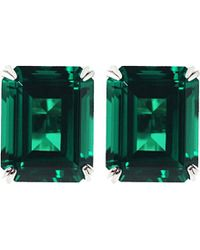 Carat* | Green Emerald 1.5ct Solitaire Stud Earrings | Lyst