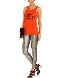 Brian Lichtenberg - Orange Homiés Cotton-jersey Tank - Lyst