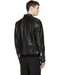 DIESEL - Black Leather L-reed Jacket for Men - Lyst