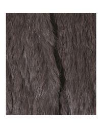 Meteo by Yves Salomon - Gray Rabbit And Fox Fur Coat - Lyst