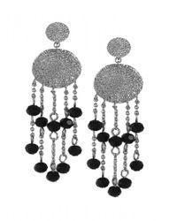 Karen Kane | Black Sandy Beach Beaded Chandelier Earrings | Lyst