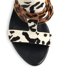 Rachel Roy | Multicolor Larsons Animal-Print Calf Hair Sandals | Lyst