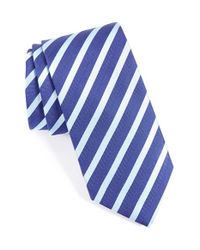 Eton of Sweden | Blue Stripe & Silk Tie for Men | Lyst