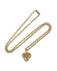 Olivia Collings - Metallic 1820S 18-Karat Gold Multi-Stone Heart Locket Necklace - Lyst
