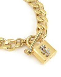 Juicy Couture | Metallic Jc Padlock Chain Bracelet | Lyst