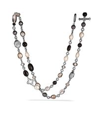 David Yurman - Black Bead Necklace - Lyst