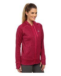 Adidas | Red Team Issue Fleece Full-zip Hoodie | Lyst
