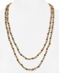 "Carolee - Multicolor Tonal Beaded Necklace, 60"" - Lyst"