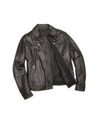 FORZIERI - Men's Black Genuine Leather Zip Jacket for Men - Lyst