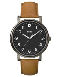 Timex - Brown Originals Classic Brass Leather Watch for Men - Lyst