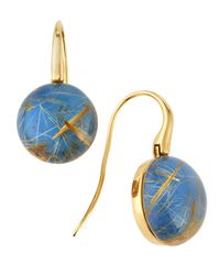 Roberto Coin - Blue Agate  Rutilated Quartz Doublet Earrings - Lyst