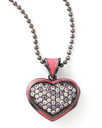 M.c.l  Matthew Campbell Laurenza - Metallic Pave Heart Pendant Necklace - Lyst