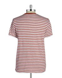 Grayers | Red Breton Striped Cotton Tee for Men | Lyst