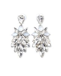 Forever 21 | Metallic Rhinestone Petal Drop Earrings | Lyst