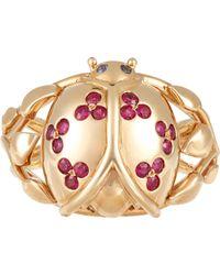 Aurelie Bidermann | Metallic Ladybug Ring | Lyst