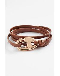 Miansai - Brown Brummel Hook Leather Bracelet for Men - Lyst