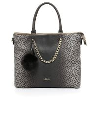 Liu Jo | Black 'poppa' Crossbody Bag | Lyst