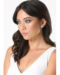 Bebe | Multicolor Crystal Stud Earring Set | Lyst