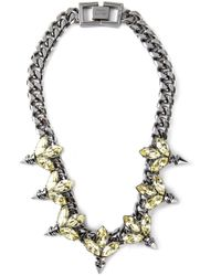 Mawi | Black Embellished Chain Necklace | Lyst