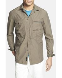 Victorinox - Green 'branson' Tailored Fit Water Repellent Shirt for Men - Lyst