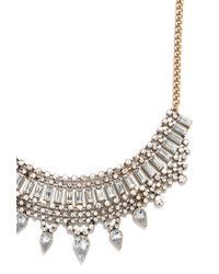 Forever 21 | Metallic Rhinestone Teardrop Statement Necklace | Lyst