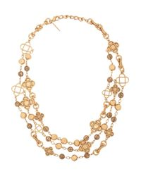 Oscar de la Renta - Metallic Mosaico Goldplated Swarovski Crystal Necklace - Lyst