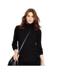 Polo Ralph Lauren - Black Cabled Merino Wool Turtleneck - Lyst
