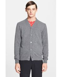 Comme des Garçons - Gray Wool Cardigan for Men - Lyst