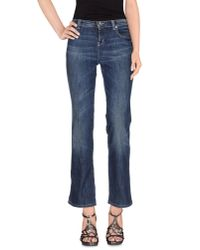 Moschino Jeans - Blue Denim Trousers - Lyst