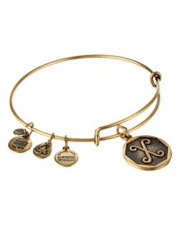 ALEX AND ANI | Metallic Initial X Charm Bangle | Lyst