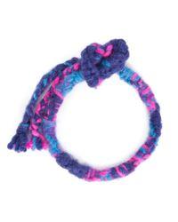 The Elder Statesman - Pink Double Wrap Woven Bracelet for Men - Lyst