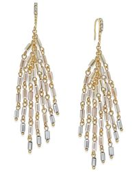 INC International Concepts | Metallic Gold-tone Multi-bead Drop Earrings | Lyst