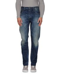 Denham - Blue Denim Trousers for Men - Lyst