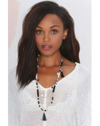 Nasty Gal | Black Priscilla Beaded Necklace | Lyst