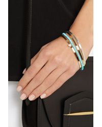 Inez & Vinoodh | Metallic 18-Karat Gold, Turquoise And Pearl Interlinked Bracelets | Lyst