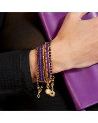 Astley Clarke | Metallic Wide Violet Berry Bracelet | Lyst