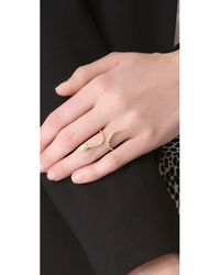Jacquie Aiche - Ja Marquise Snake Ring - Yellow Gold - Lyst