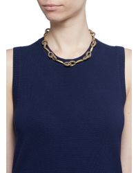 J.Crew - Brown Pavé Link Chain Collar Necklace - Lyst