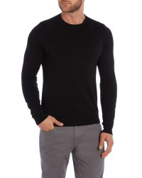 Sisley Men | Black Plain Crew Neck Pull Over Jumpers for Men | Lyst
