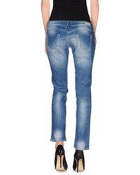 Replay - Blue Denim Trousers - Lyst
