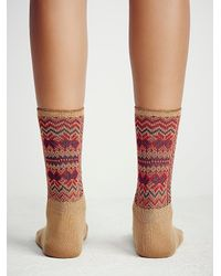Free People - Brown Womens French Quarter Crew Sock - Lyst