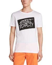 HUGO - White 'doyalty'   Cotton Graphic T-shirt for Men - Lyst