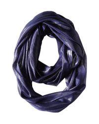 Calvin Klein | Blue Liquid Lurex Waves Infinity | Lyst
