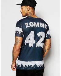 Born Idol - Blue Bone Idol Halloween Zombie T-shirt for Men - Lyst