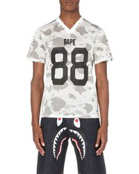A Bathing Ape | White Camouflage-print Mesh T-shirt for Men | Lyst