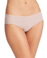 Hanro | Natural High-cut Tulle Brief | Lyst