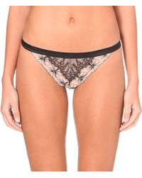 Passionata | Double Play Lace Tanga, Women's, Size: Xs, Black | Lyst