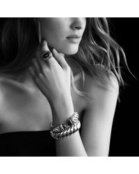 David Yurman - Waverly Limitededition Ring with Green Onyx and Gray Diamonds - Lyst